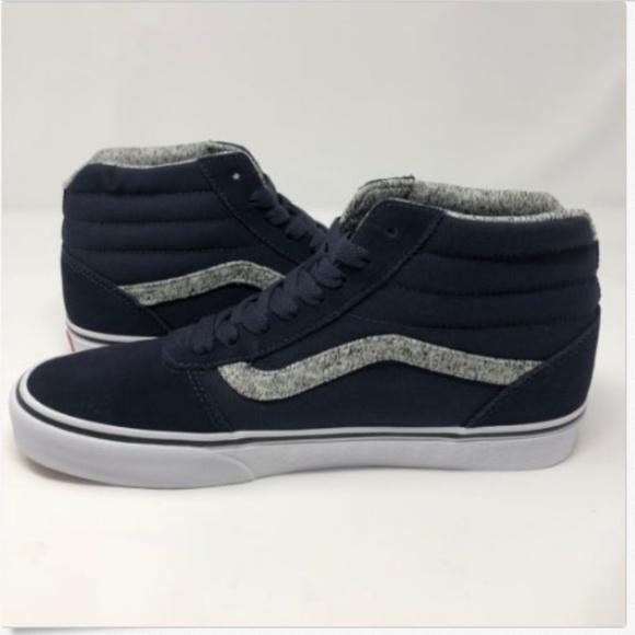 5f094e9acb Vans Mens 9 Sneakers Ward Hi Blue Sky Captain NEW